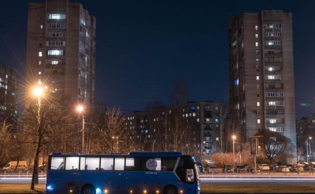 Синий автобус